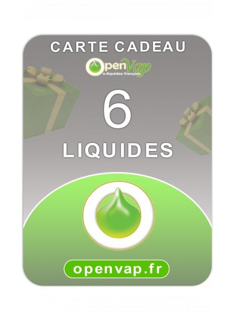 CARTE CADEAU 6 LIQUIDES