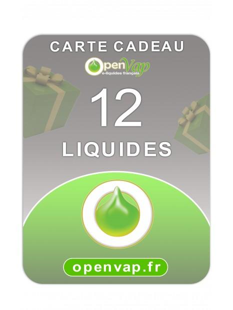 CARTE CADEAU 12 LIQUIDES