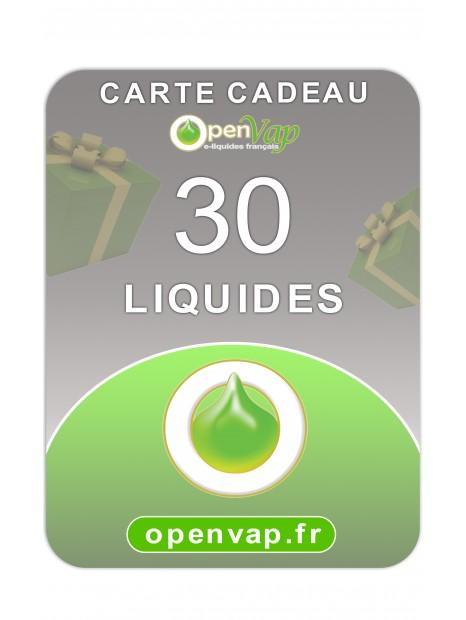 CARTE CADEAU 30 LIQUIDES